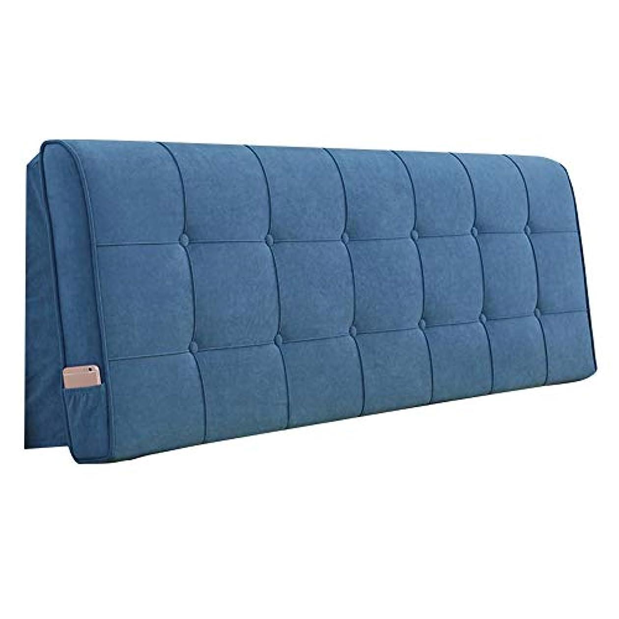 ワゴンフレアなだめるLIANGLIANG クションベッドの背もたれ に適用する 屋内 デコレーション ダブルベッド 腰 サポート 読んだ 枕 柔らかい 超極細繊維 環境を守ること お手入れ簡単、 (Color : #3 blue, Size : 120x58x10cm)