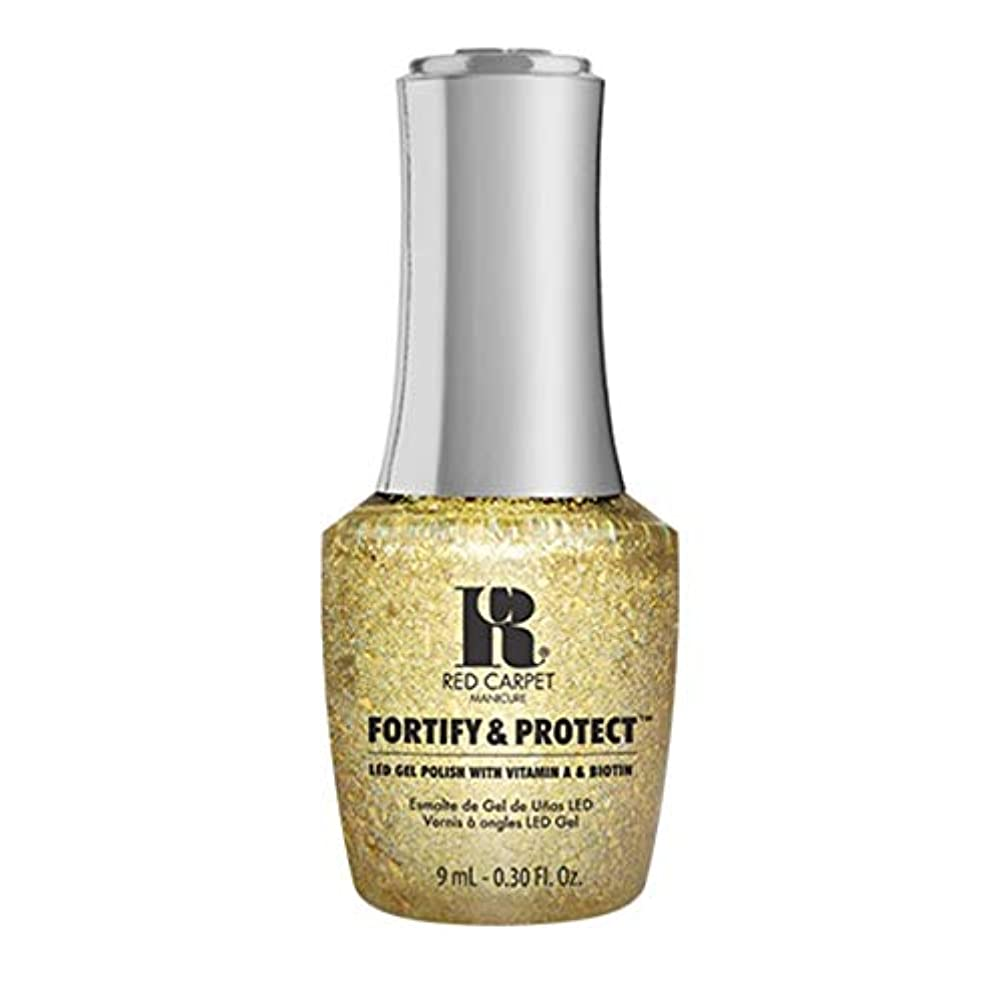 ファイアル征服主張Red Carpet Manicure - Fortify & Protect - Glittering Like A Star - 9ml / 0.30oz