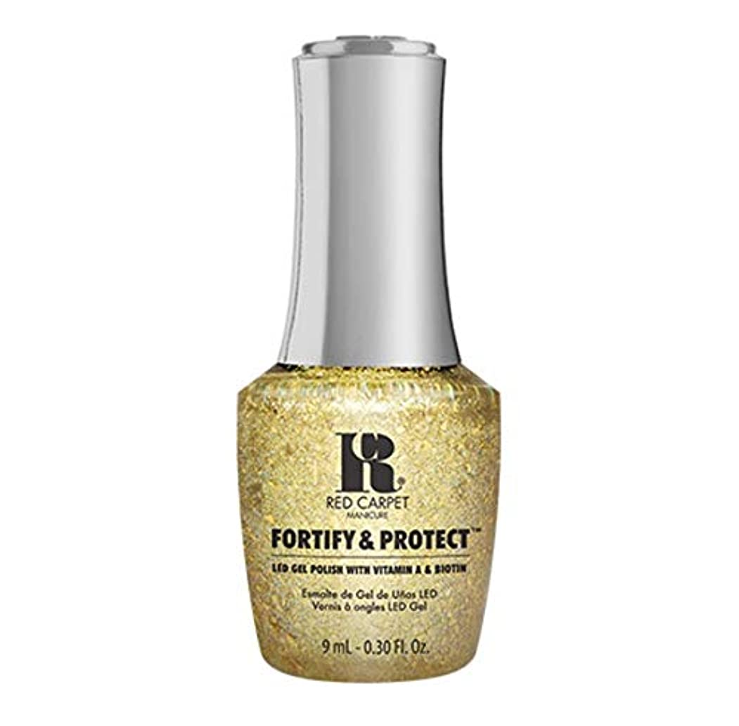 差別化する女将イサカRed Carpet Manicure - Fortify & Protect - Glittering Like A Star - 9ml / 0.30oz