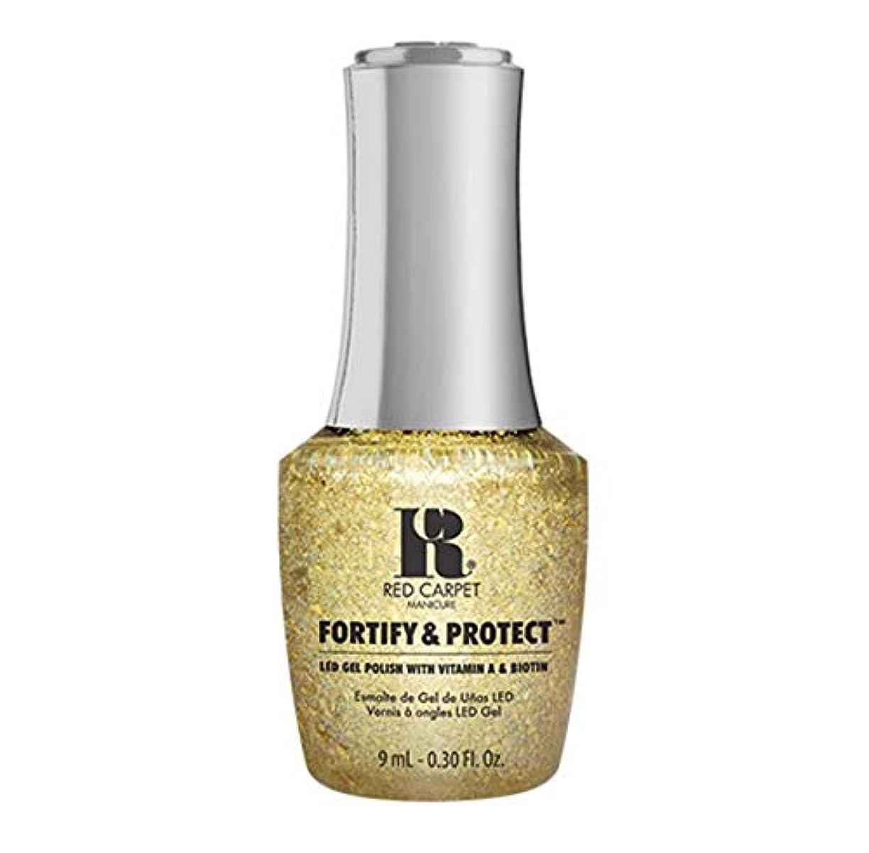 作家介入するブローRed Carpet Manicure - Fortify & Protect - Glittering Like A Star - 9ml / 0.30oz