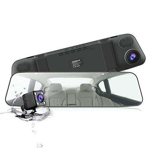 ドライブレコーダー 前後カメラ ミラー型 ドラレコ 1080P 駐車監視 バックミラー型 4.3インチ 170°広角 Gセンサー JEEMAK 【1年保証】