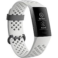 Fitbit Charge3 フィットネストラッカー White Sports Band/Graphite L/Sサイズ スペシャルエディション [日本正規品] FB410GMWT-CJK