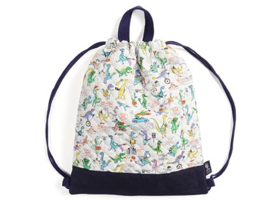 ペパーミント哲学使役ナップサック 巾着 バッグ 恐竜タウンは大忙し N0450900