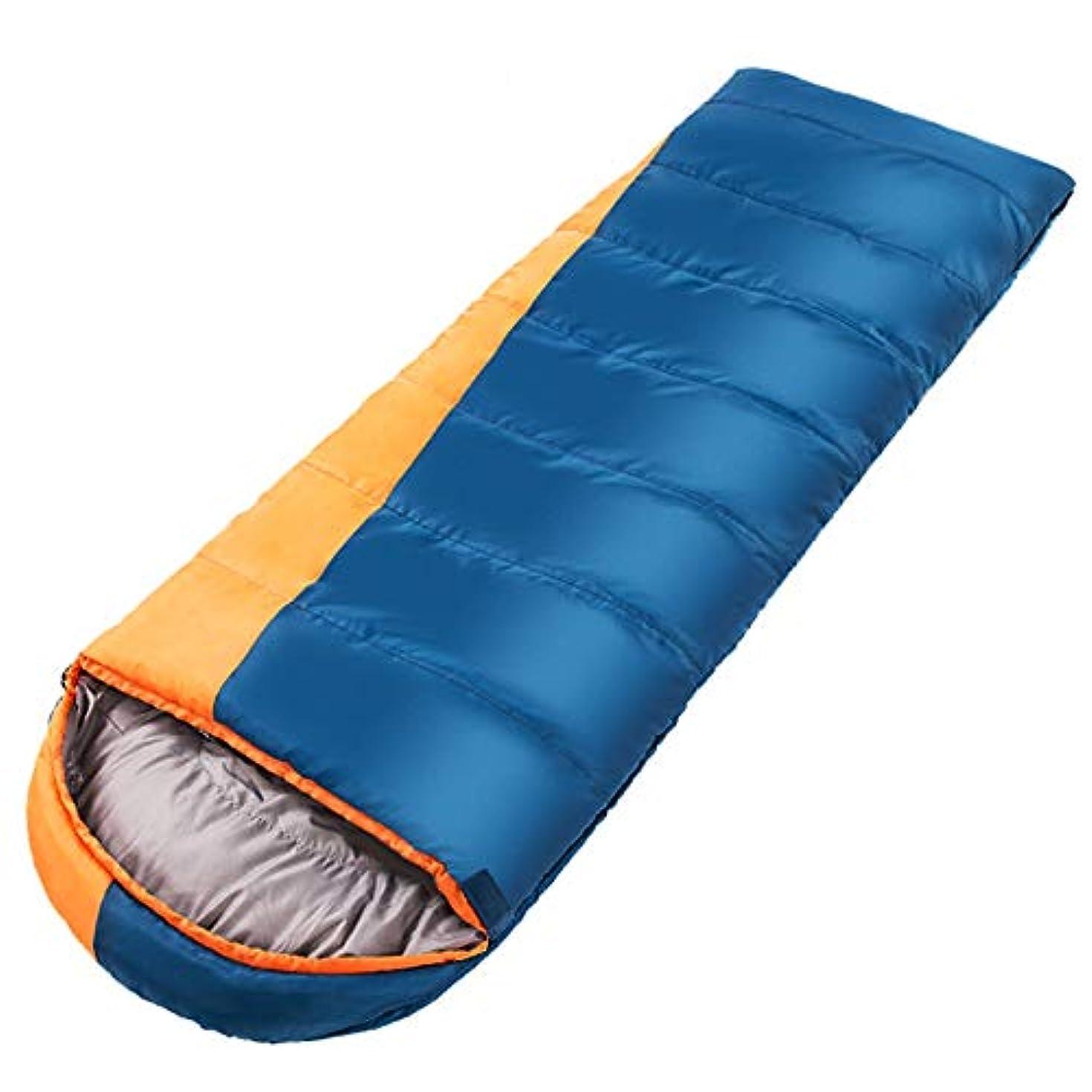 バラ色慢な障害者IAIZI 寝袋大人の屋外の冬の厚いステッチ暖かいキャンプ (Color : Blue)