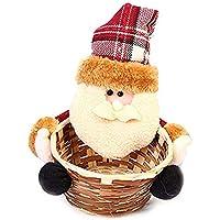 TeFuAnAn クリスマス バスケット キャンディーバスケット 収納バスケット 収納箱 クリスマスプレゼント 可愛い飾り 子供おもちゃ サンタクロース 雪だるま クリスマスパーティー キャンディバスケット