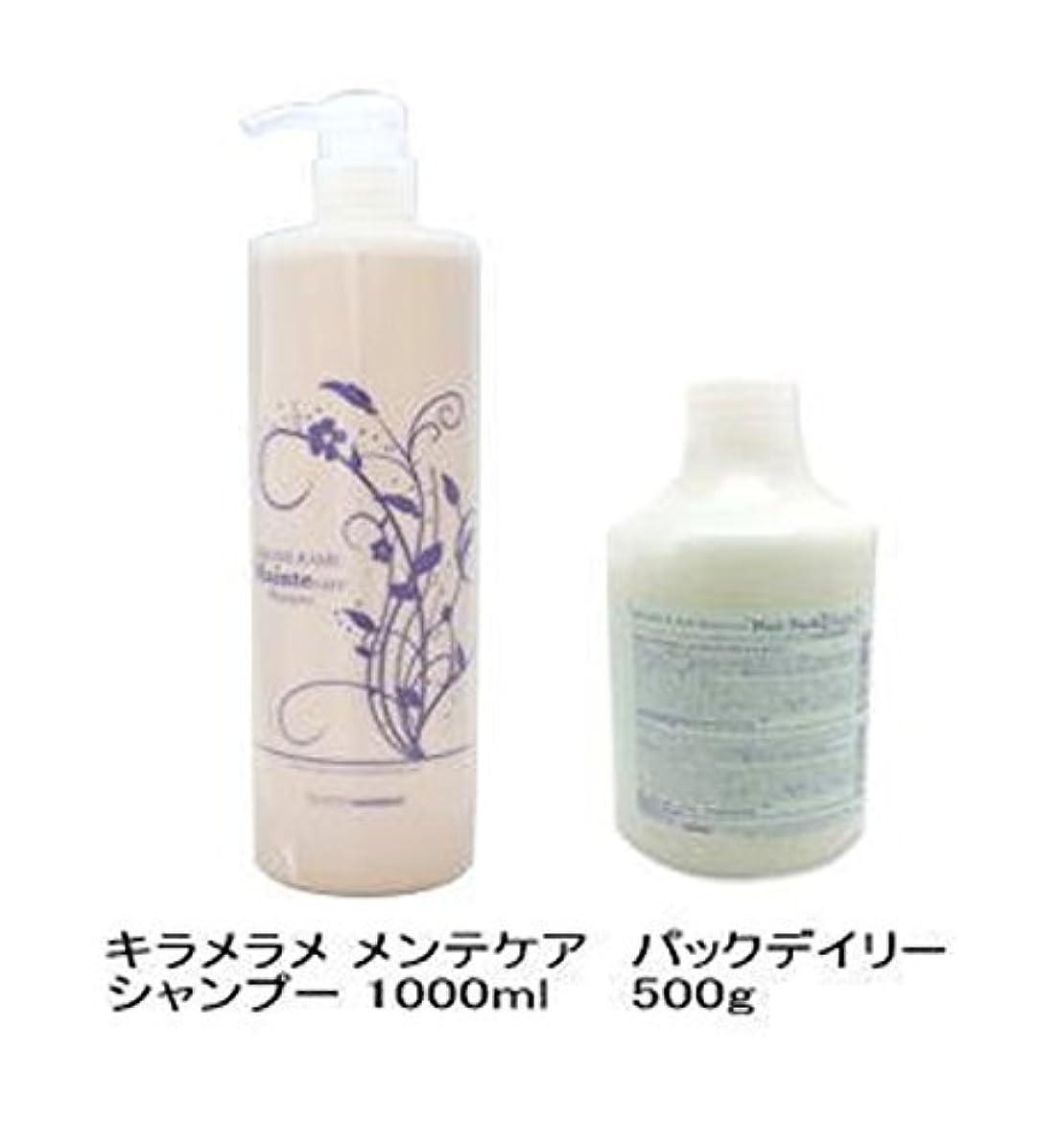 乞食しなやか砂利ハホニコ キラメラメ メンテケアシャンプー 1000mL + パックデイリー 500g セット [Shampoo-land限定]