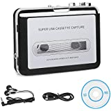 Cassette Player Tape to MP3 Converter via USB Retro Walkman Auto Reverse Portable Audio Music Tape Player with Earphone by KALULI