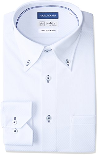 (ハルヤマ) HARUYAMA(ハルヤマ) i-shirt 完全ノーアイロン 長袖 ボタンダウンアイシャツ M151180053 81 サックス M80(首回り39cm×裄丈80cm)