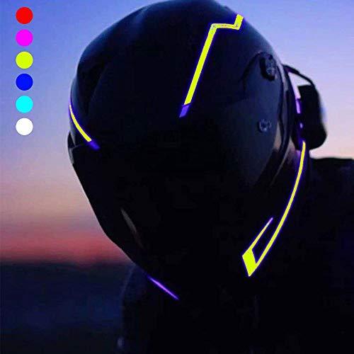 イルミネーション ヘルメット LEDライト 防水 3M 両面 粘着性 テープ オートバイ運転者用 信号灯 点滅灯バー 夜オートバイ 安全のため 汎用 (イエロー)