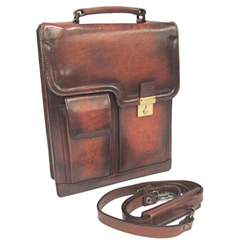 LuggageAOKI 青木鞄 Lugard G3 ラガード ジースリー 縦型 2way ショルダーバッグ A4 日本製 本革 ブラウン 5221-50
