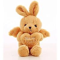HuaQingPiJu-JP ぬいぐるみ45cmエンジェルラビットぬいぐるみエンジェルウサギソフトおもちゃアニマルエンジェルウサギ人形(黄色)
