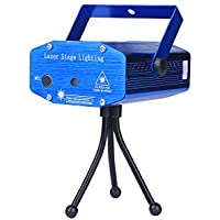 LED フラッシュレーザー  レーザーステージ ミニポータブルレーザーライト イルミネーションレーザー/演出/舞台 照明マシン ブルー