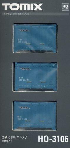 TOMIX HOゲージ HO-3106 国鉄 C35形コンテナ (3個入)