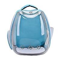 新しいUSB透明ペットパックお出かけポータブルスペースバッグキャットバックパックペットキャットバッグ-Lightblue