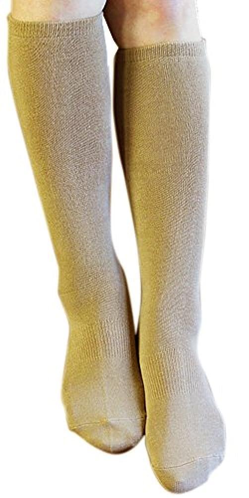 地獄歌う設計歩くぬか袋 米ぬかシリコンハイソックス 23-25cm キャメル