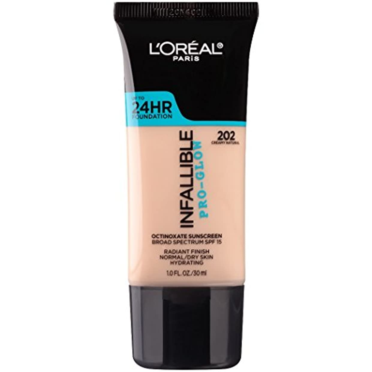 寛大なトーン促すL'OREAL Infallible Pro-Glow Foundation - Creamy Natural (並行輸入品)