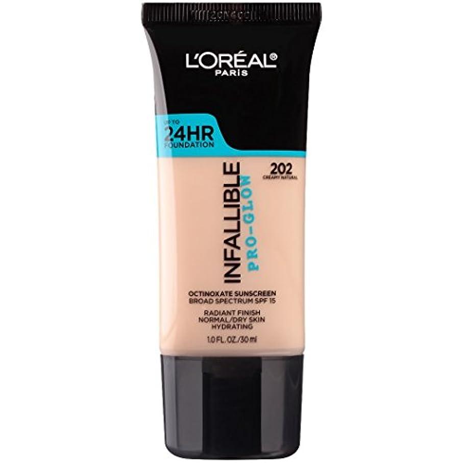 適用済みジュニアスイス人L'OREAL Infallible Pro-Glow Foundation - Creamy Natural (並行輸入品)