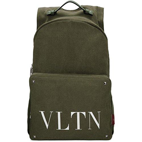 (ヴァレンティノ) Valentino メンズ バッグ バックパック・リュック Green Valentino Garavani 'VLTN' Backpack [並行輸入品]