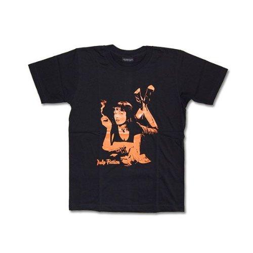 Tシャツ 映画パルプ・フィクション PULP FICTION ムービー ロック バンド L ブラック
