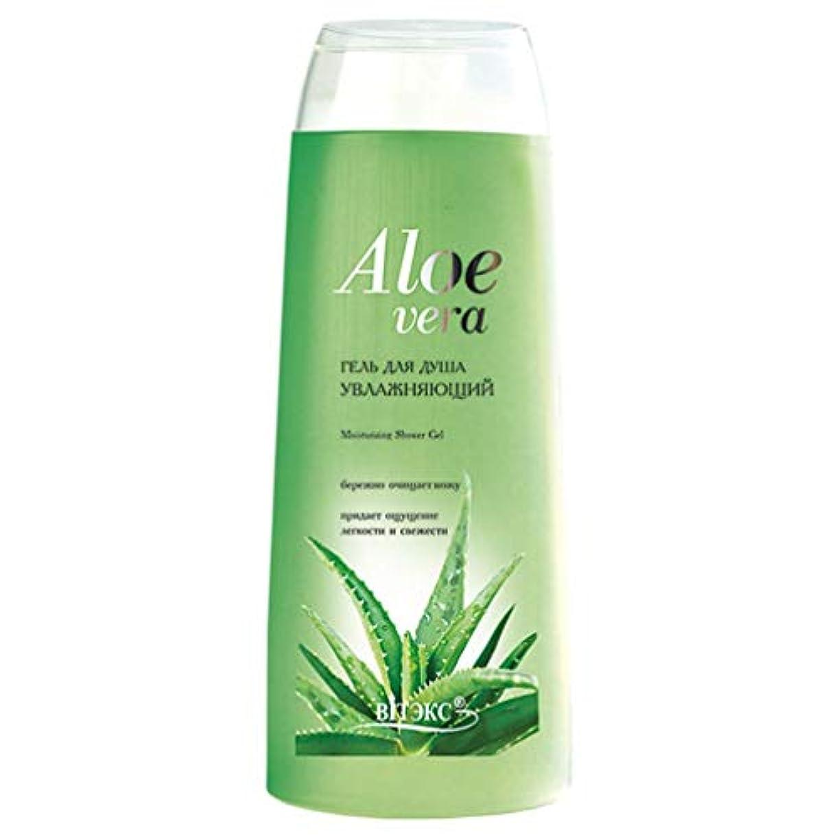 批判的それ排除Bielita & Vitex   Aloe Vera Line   Moisturizing Shower Gel   Aloe Juice   Cucumber Extract   Vitamins   500 ml