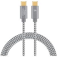 Type USB C-Cケーブル CableCreation USB 2.0 USB-C to USB-C ケーブル高速データ転送 PD対応 急速充電(3A) 新しいMacBook / Nintendo Switch / Chromebook Pixel / Nexus 5X , 6P / Galaxy S8/S8 など対応 コットン編組 スペースグレー 0.3m