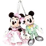 ディズニー ウェディング ミッキー ミニー マウス ぬいぐるみバッジ セット (グリーン、ピンク服) ぬいば 結婚式 ブライダル 結婚 リゾート限定