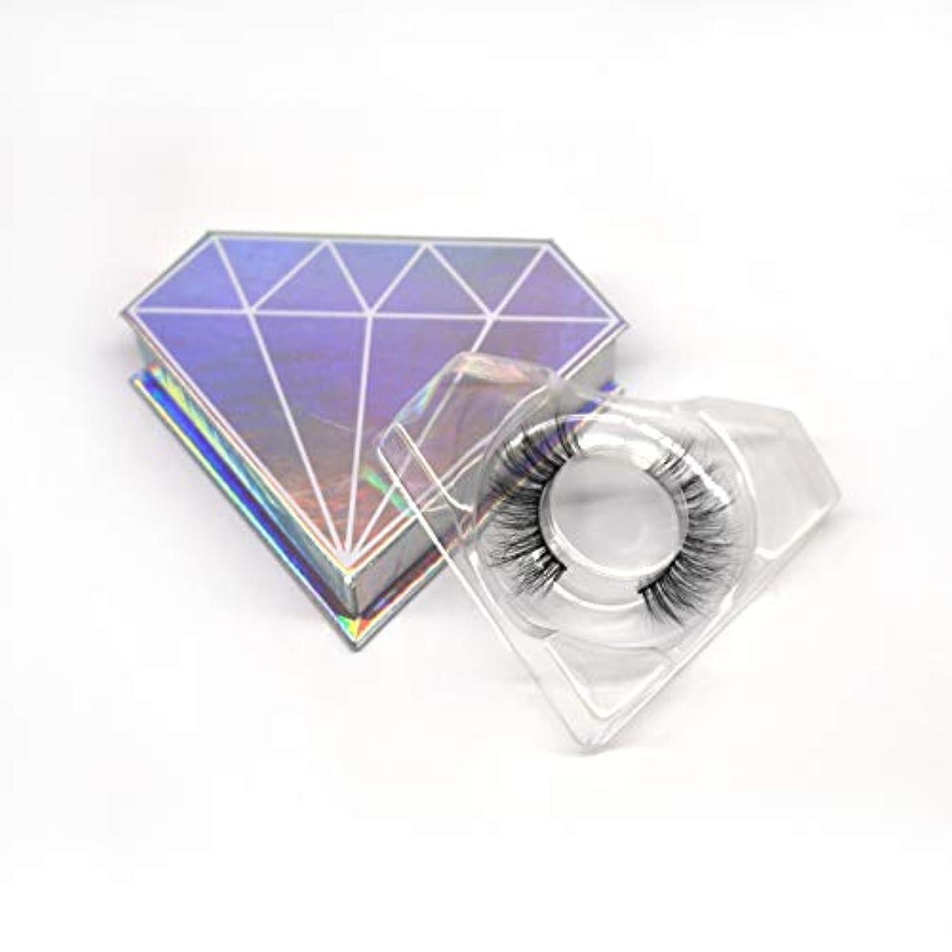 クレデンシャルアンペアなんとなく3D自然な 高級ミンクつけまつげ 全く天然なミンク毛で手作り 収納ケース付け 3D01