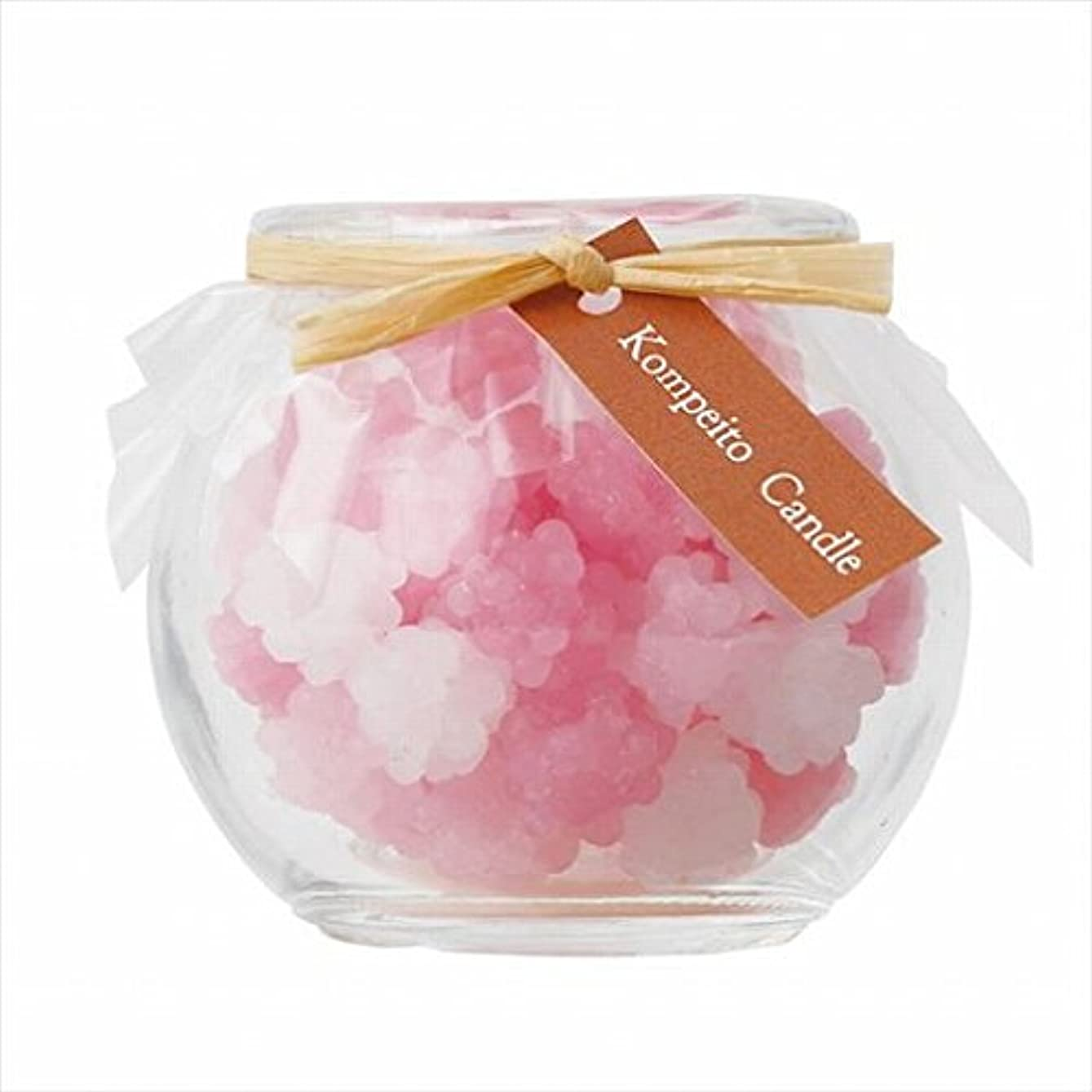 診断する抽出バックグラウンドスイーツキャンドル( sweets candle ) こんぺいとう 「 ピンク 」 キャンドル