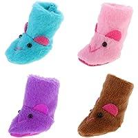 Dovewill  人形用 ファッション ぬいぐるみ  スノーブーツ シューズ 靴 12インチ ブライスドール適用 装飾 4ペアセット 4色
