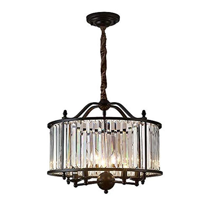 どれ光沢逃れるクリスタルのシャンデリア、近代/現代ペンダント照明、ダイニングルームバスルームベッドルームリビングルームのための銅のシーリングライトフィクスチャランプ、E14(5灯)