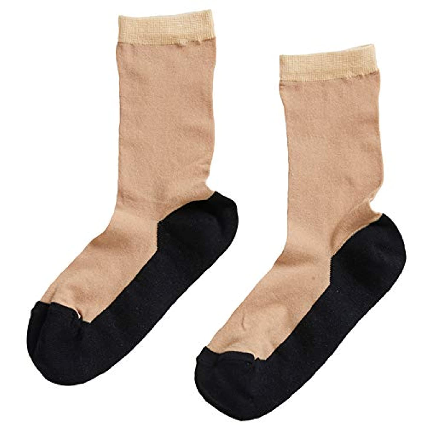 ふざけた禁輸同化ストッキングソックス ショートストッキング風 靴下 9457◆2足セット ブラック