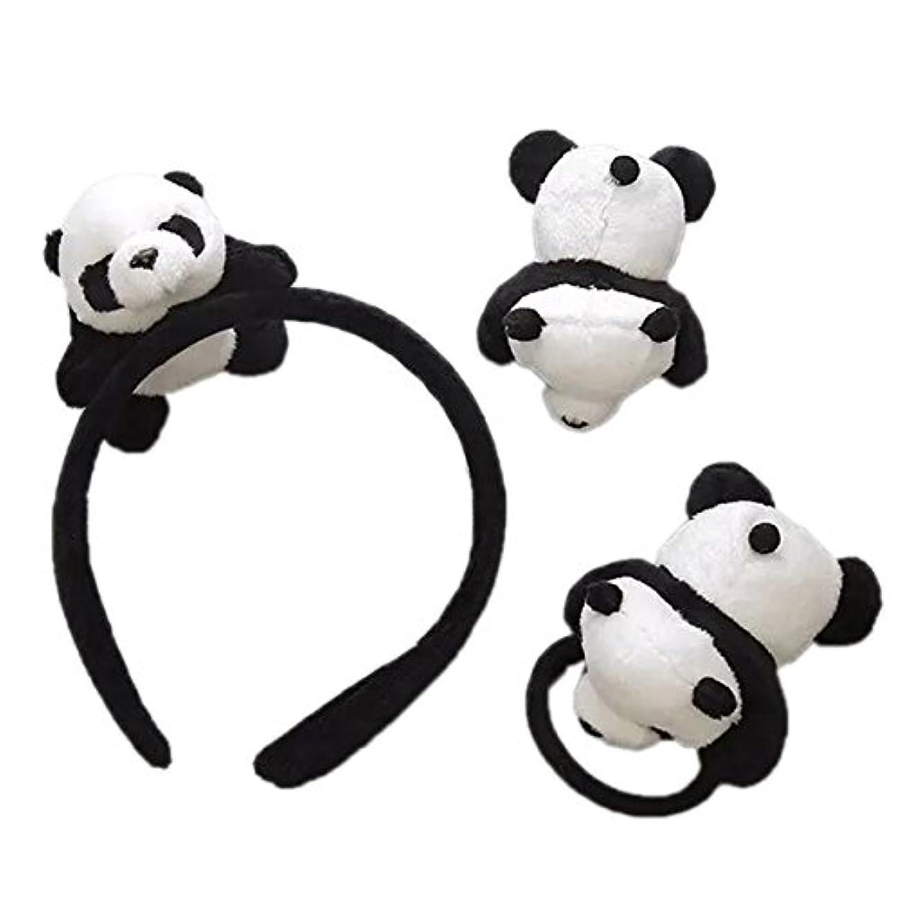 リンク専制暖炉skyflyings 髪飾り ヘアピン ヘアアクセサリー 可愛いパンダ 3個セット 子供用 大人用