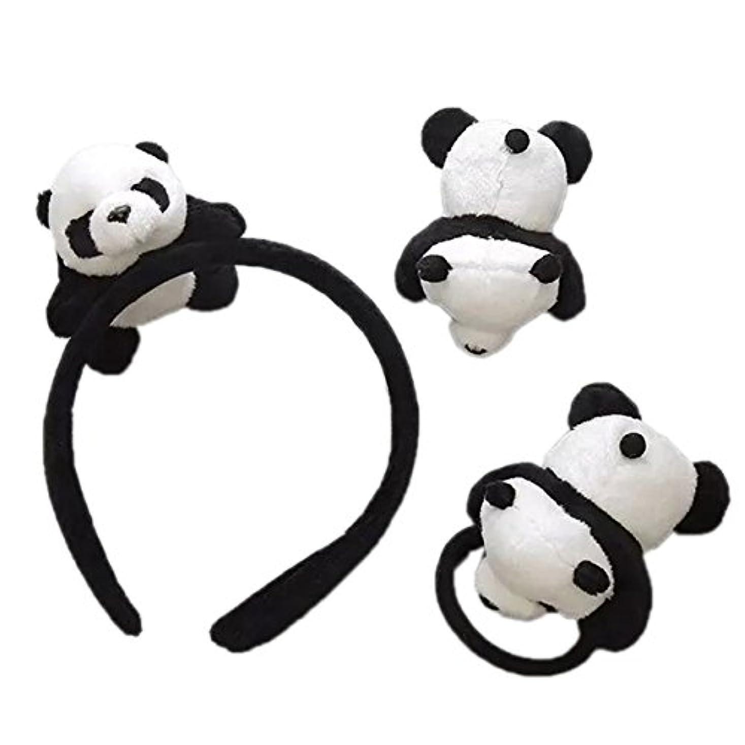 中級フォーマルベテランskyflyings 髪飾り ヘアピン ヘアアクセサリー 可愛いパンダ 3個セット 子供用 大人用