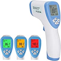Thermometer for Adults, Baby, Children, Non-Contact Digital Infrared Thermometer with Fever Alarm and Memory Function,...