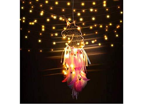 Dream Catcher Creative wildebeest Night Light Pendant Simple Girl Room Unicorn Small Pendant