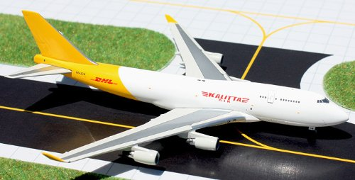 1: 400 ジェミニジェット Kalitta Air ボーイング 747-400BCF with DHL Logos (並行輸入)