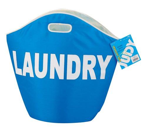RoomClip商品情報 - パール金属 ランドリー バッグ 洗濯物 入れ ブルー ジュディ H-3539
