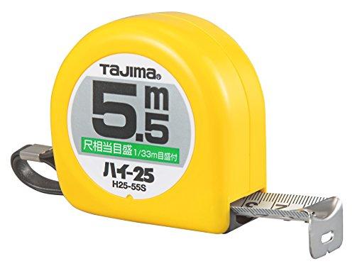 タジマ ハイ-25 5.5m 25mm幅 尺相当目盛付 H2555SBL