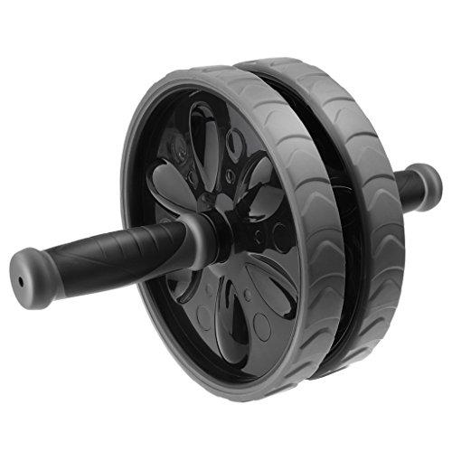 SnowCinda スリムトレーナー エクササイズウィル 超静音腹筋ローラー 膝保護マット付き 組み立て簡単! ブラック