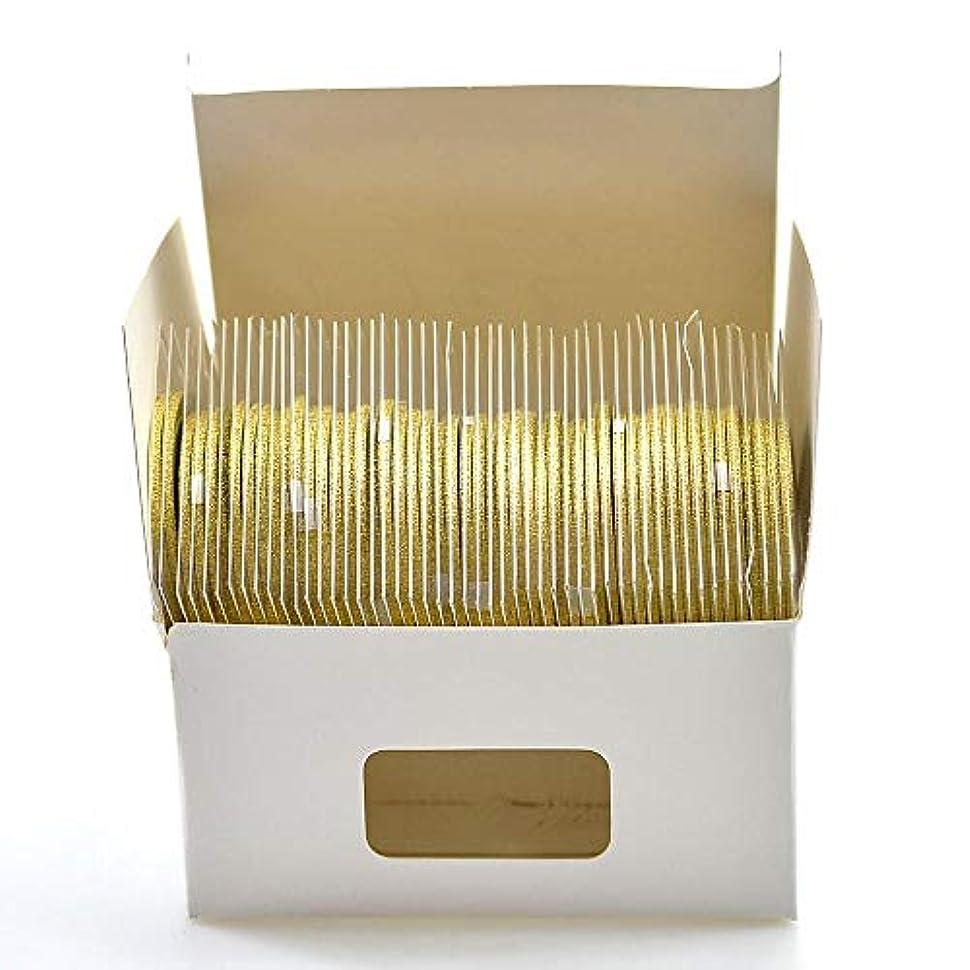 グリット飢えささいなSUKTI&XIAO ネイルステッカー 2Mm 50ロールネイルテープ輝くストライプラインアート装飾マニキュアストライプゴールドシルバーキラキラ、ゴールド