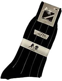 (グンゼ) GUNZE 紳士礼装用ソックス(フォーマル用)黒地に白縞入り G807