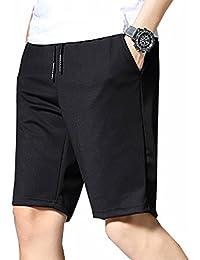 半ズボン メンズ M-5XL 大きいサイズ スポーツ ハーフパンツ 5分丈 夏 速乾 調整紐 カジュアル ゆったり ストレッチ ファッション シンプル 通気性 部屋着 お出かけ 無地 短パン ボトムス ブラック
