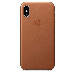 Apple iPhoneXSレザーケース -サドルブラウン