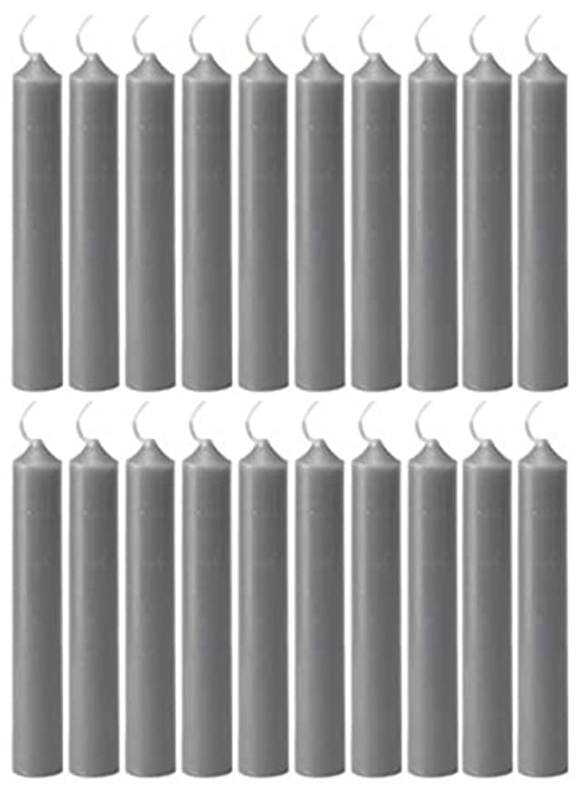 旅ソビエトゴルフ(Gray) - Biedermann & Sons 20 Count Chime Candles, Grey