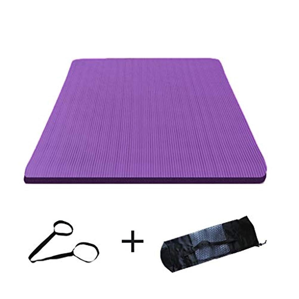 かろうじて集まる話す寝袋アウトドアアウトドアブッシュスリーシーズンキャンプ ダブルヨガマット特大広め滑り止めフィットネス毛布キャンプに適して男性と女性200 * 160センチメートル で利用できる単一の二重色 (サイズ さいず : 紫の-15mm, サイズ さいず : With bag style)
