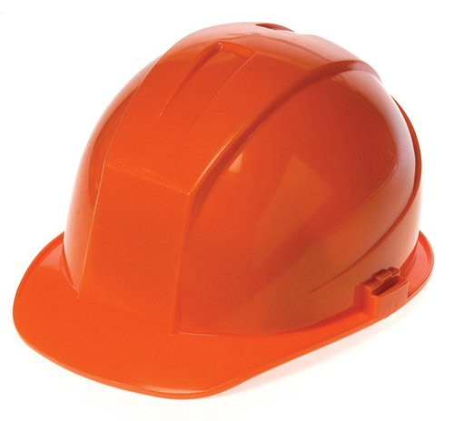 Liberty DuraShell HDPE Cap Style Hard Hat with 4 Point Ratchet Suspension, Hi-Vis Orange (Case of 6) by Liberty Glove & Safety