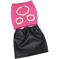 Lovoski ファッション 布製 人形服 チューブトップ PUドレス スカート ジュエリー 18インチアメリカガールドール人形用 セット