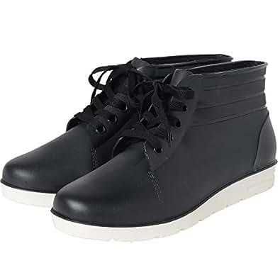 praise (プレイズ) スニーカー風レインブーツ レインシューズ 雨靴 メンズ 25 ブラック