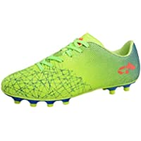 Aiweijia Unisex Kids' Outdoor/Indoor Sport Plastic Sole Lacing Soccer Shoes