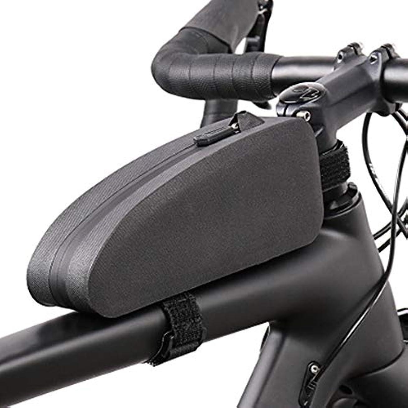 いたずらな香りなに自転車バッグ ラック収納用自転車バッグサイクリングフロントフレームバッグ大容量ジッパーバッグ サドルバッグ?フレームバッグ (色 : Black, Size : One size)
